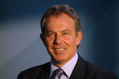 tony blair Royaltyfri Bild