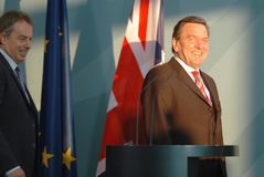 Tony Blair, Gerhard Schroeder Royalty Free Stock Photo