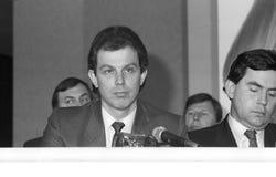 Tony Blair & Gordon Brown Stock Images