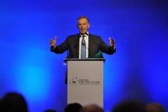 Tony Blair Speaks no fórum tailandês da reconciliação imagens de stock