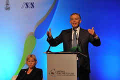 Tony Blair Speaks at Thai Reconciliation Forum Royalty Free Stock Photo