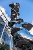 Tony Cragg sztuki współczesnej rzeźby Elliptical kolumna przy wystawą Obraz Stock