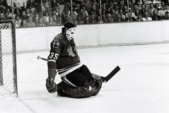 Tony Esposito Chicago Blackhawks. Hall of Fame Goaltender for the Chicago Blackhawks, Tony Esposito royalty free stock images
