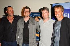 TONY HAWKE, Steve Wiebe, Tony-Falke, Vince Vaughn, Seth Gordon lizenzfreie stockfotos
