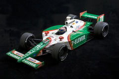 Tony Kanaan Indy Car. Large scale indy car model driven by Tony Kanaan captured on display royalty free stock images
