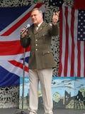 Tony martin as frank sinatra. Photo of tony martin as tribute to frank sinatra at herne village 1940 show on 12th june 2016 Stock Image