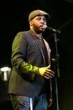 Tony Momrelle levend in Nisville Jazz Festival, 10 Augustus 2017 Stock Foto's