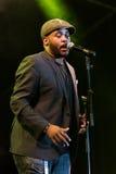 Tony Momrelle levend in Nisville Jazz Festival, 10 Augustus 2017 Stock Afbeelding