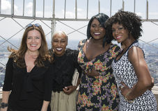 2016 Tony Nominees Pose at Empire State Building 86th Floor Observatory Stock Images