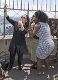 Tony Nominees Pose 2016 no obervatório do assoalho do Empire State Building 86th Fotos de Stock