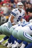 Tony Romo Dallas Cowboys. Tony Romo Quarterback for the Dallas Cowboys in game action during a regular NFL game royalty free stock photo
