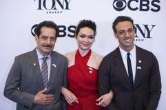 Tony Shalhoub,Katrina Lenk, and Ari`el Stachel Stock Photography