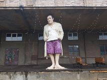 Tony Soprano-Statue in Vilnius lizenzfreies stockfoto