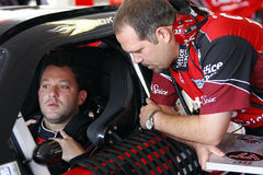 Tony Stewart and crew chief Darian Grubb Royalty Free Stock Photos
