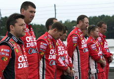 Tony Stewart and crew on pit road Stock Images