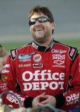 Tony Stewart NASCAR mästare royaltyfria bilder
