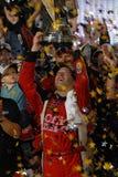Tony Stewart segrar den 3rd mästerskapet Royaltyfria Foton