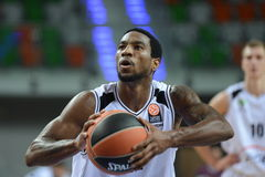 Tony Taylor. 2nd round Euroleague basketball match between the PGE Turow Zgorzelec and Fenerbahce Ülker Istanbul. Played in Lubin on October 23, 2014 Royalty Free Stock Photography