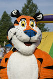 Tony the Tiger mascot. This is Tony the Tiger mascot in downtown Bristol Tennessee/Virginia at Family Race Night August 21, 2008. The night race in Bristol TN is stock image