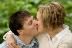 Tonya en Bryan Engagement 3 stock fotografie