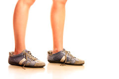 Too big shoes Royalty Free Stock Photo