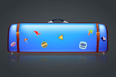 Too big suitcase Royalty Free Stock Photo