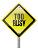 Too busy yellow illustration design Stock Photo