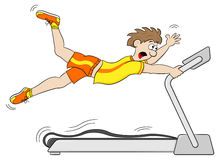 Too fast treadmill workout Royalty Free Stock Photo