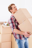 Too heavy boxes. Royalty Free Stock Images
