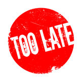 Too Late rubber stamp Royalty Free Stock Images