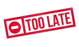 Too Late rubber stamp Stock Photography
