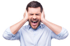 This is too loud! Royalty Free Stock Image