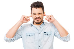 This is too loud! Stock Image