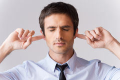 Too loud for me. Royalty Free Stock Photography