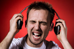 Too loud music Royalty Free Stock Photo