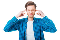 Too loud sound! Royalty Free Stock Photo