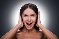 Too loud sound! Royalty Free Stock Images