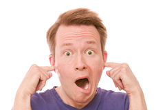 Too loud Royalty Free Stock Photography