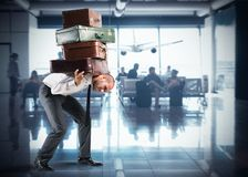 Too many bags for departure Stock Images