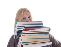 Too many books Royalty Free Stock Photo