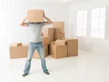 Too many boxes to unpack Stock Photos