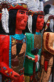 Too Many Chiefs 3. Wooden indians in front of cigar store Royalty Free Stock Photos