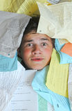 Too Many Homework Assignments Stock Image
