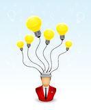 Too many idea. Vector illustration of a Businessman who has lots of idea in his mind Royalty Free Stock Images
