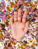 Too many pills Stock Photo