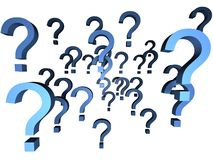 Too many questions. Many question marks for business and communication related themes stock illustration