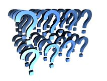 Too many questions. Many question marks for business and communication related themes royalty free illustration