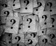 Too Many Questions Royalty Free Stock Image