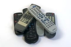 Too many remotes Royalty Free Stock Image