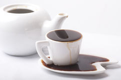 Too much coffee Stock Image